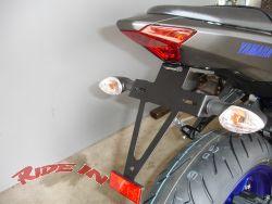 Kennzeichenhalter Yamaha MT07 mit LED Kennzeichenleuchte
