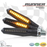LED-Blinker Runner, SEQUENTIELL, schwarz, getönt